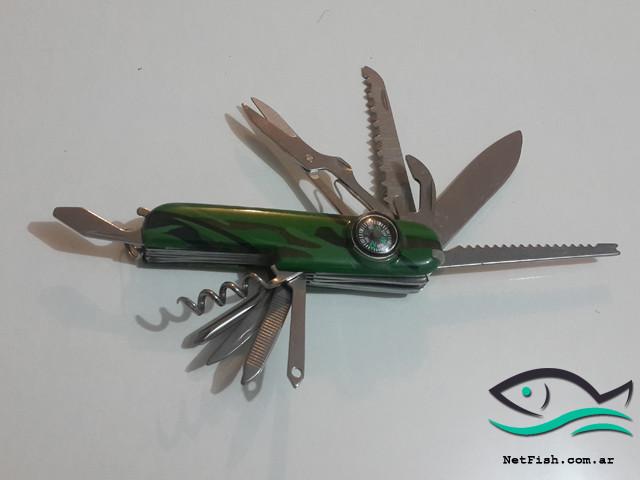 Cortaplumas con 13 funcionalidades – incluye brújula