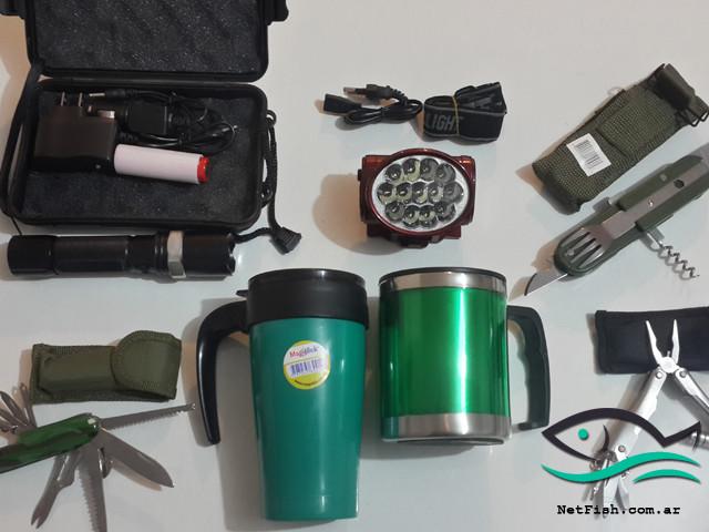 Kit completo para camping
